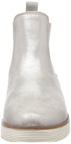 s.Oliver Women's 25410 Chelsea Boots Silver (Silver Comb) S2pH5Xlz
