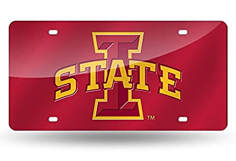 Rico Industries NCAA Unisex-Adult NCAA Laser Inlaid Metal License Plate Tag Red 6 x 12 Inc LZC250201