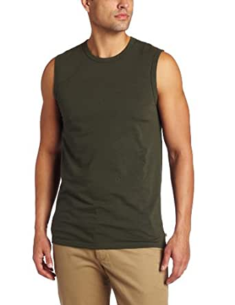 Dockers Men's Performance Muscle Crew T-Shirt, Olive Green, X-Large