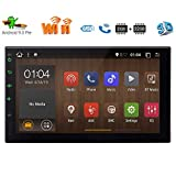 Single Din Android 9.0 Pie Car Stereo 7' HD Capacitive Touchscreen Bluetooth GPS Radio InDash Navigation 1 Din Auto FM AM RDS Receiver Support SWC Mirror Link WiFi CAM-in with Wireless Back-up Camera