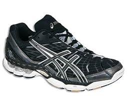 ASICS Men\'s GEL Volley Elite Volleyball Shoe,Black/Gun Metal/White,8 M US