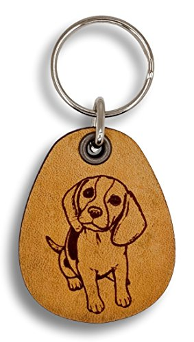 (ForLeatherMore - Beagle - Genuine Leather Keychain - Pet Key)