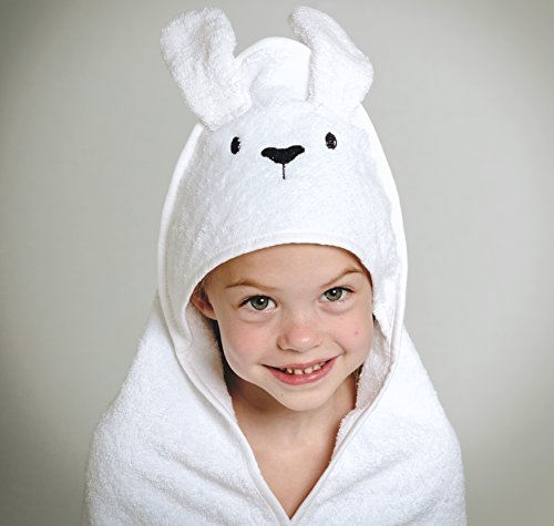 Luxury Baby Hooded Towel | 100% Natural Cotton | Extra Soft Babies and Small Childrens Bath Towel | Cute Bunny Style | by Modern Bubs