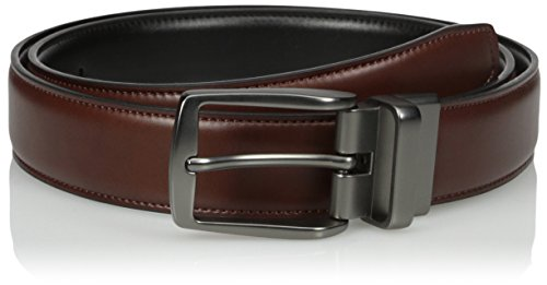 Dockers Men's Reversible Casual Dress Belt With Comfort Stretch,Cognac/black,Medium