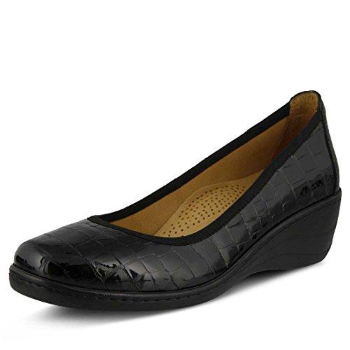 Scarpe Da Donna Primaverili Kartii Slip On Shoe Nero Croco