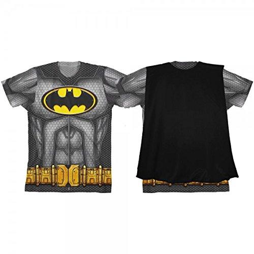 [Batman Youth Boys Sublimated Cape Costume T-shirt (Medium)] (Baseball Bat Man Costume)