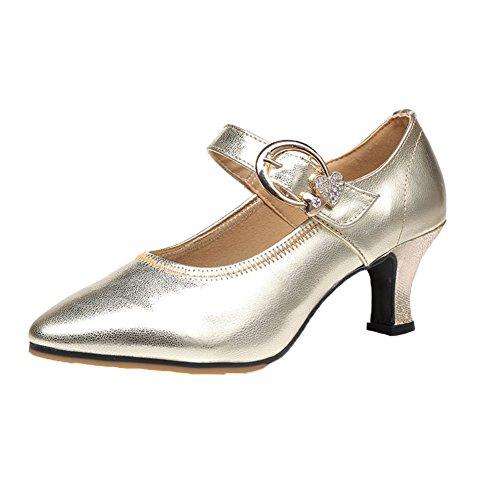 Talons Danse de Doré Sociale Latine Chaussures Standard Chaussures Womens Moyens International Danses Cuir Fond Chaussures WYMNAME Danse de de Danse Mou de Chaussures xYSwUpqg
