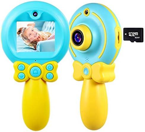 [해외]VATENIC 어린이용 디지털 카메라 아이 카메라 키즈 카메라 미니 2 인치 스크린 500만 화소 1080P HD 마술 지팡이 메이크업 충격 방지 핸들 구조 사진 성능과 동영상 촬영 및 자동 촬영 수 있습니다 재미 있는 카메라 내충격성 안전한 재질 3- 12 세...