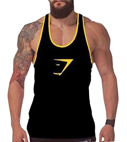 Tuesdays2 Men Gym Muscle Sleeveless Shirt Tank Top T-shirt Bodybuilding Sport Vest