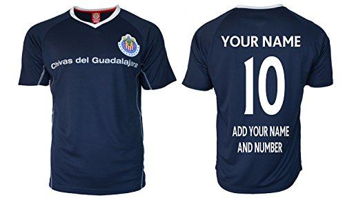 RhinoxGruop Chivas Soccer Training Jersey Performance FMF Customized Any Name (L, Navy T1B08)
