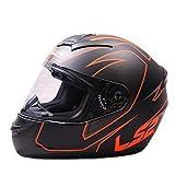 LS2 Full Face Premium Helmet FF 352 FIRE WITH MERCURY VISOR (X-Large, BLACK ORANGE MATT)
