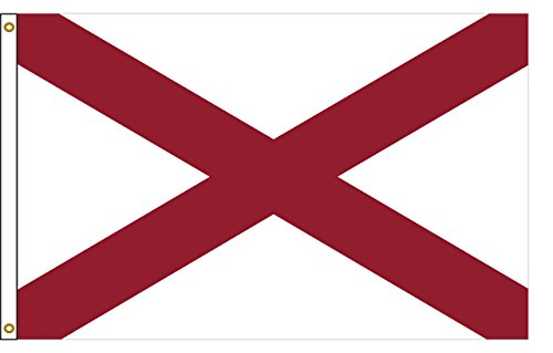 Alabama 8ftx12ft Nylon State Flag 8x12 Made In USA 8'x12' by Flags Poles And More