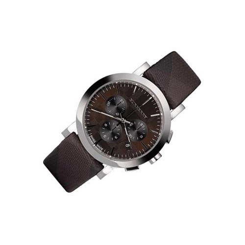 Burberry Watch, Men's Chronograph Brown Check Leather Strap 40mm BU1776