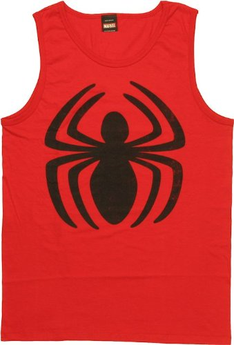 spider-man+tank+tops Products : The Amazing Spider-Man Second Spin Men's Red Tank Top Shirt | S