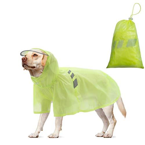 BINGPET Dog Raincoat for Medium Dogs