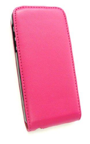 Emartbuy® Apple Iphone 5 5s Luxury Pu-Leder Flip Case / Cover / Pouch Rosa / Tan