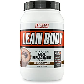 LABRADA NUTRITION – Lean Body High Protein Meal Replacement Shake, Whey Protein Powder, Chocolate, 2.47LB Tub