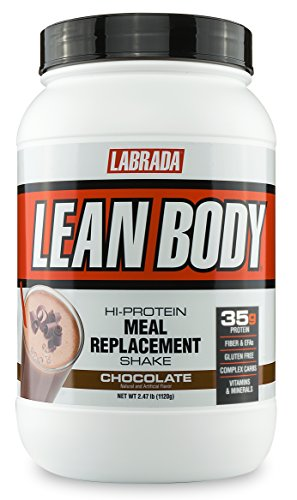 Lean Protein Powder (LABRADA NUTRITION – Lean Body High Protein Meal Replacement Shake, Whey Protein Powder for Weight Loss and Muscle Growth, Chocolate, 2.47LB Tub)