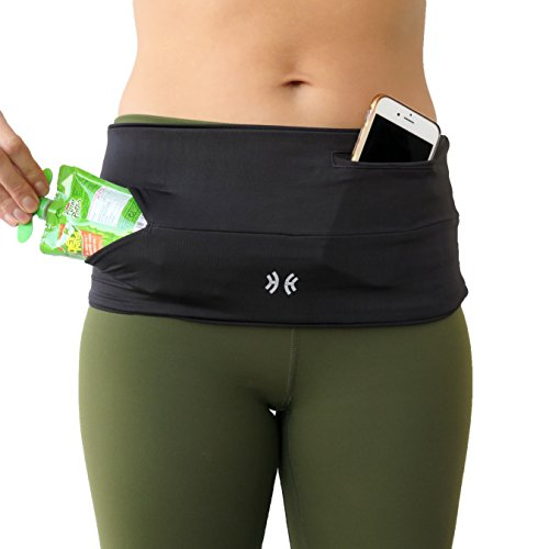 Limber Stretch Running Belt Waist Pack, Wide Fitness Flip Belt, Money Belt...