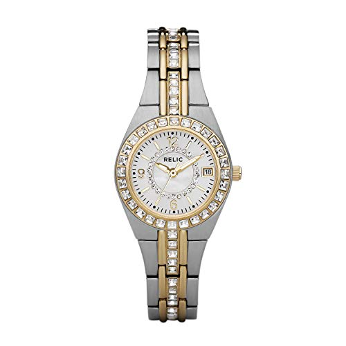 Relic by Fossil Women's Queen's Court Quartz Two-Tone Stainless Steel Sport Watch, Color: Silver, Gold (Model: ZR11775)