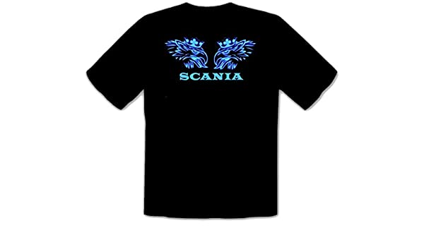 Scania Trucker Shirt LKW Fun T-Shirt Camiseta Negra -111 (^XL ...