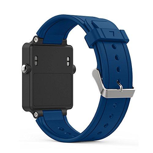 Band for Garmin Vivoactive, Soft Silicone Wristband Replacement Watch Band for Garmin Vivoactive Sports GPS Smart Watch (Blue)
