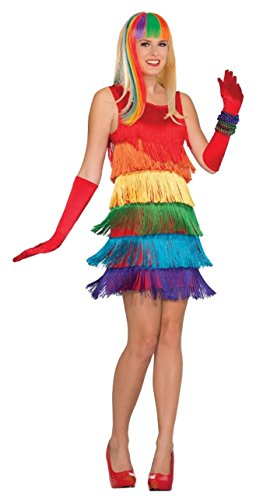 Forum Novelties Women's Rainbow Shimmy Costume, Multi One Size ()