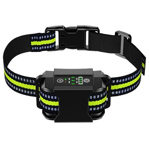 Dog Bark Collar – Rechargeable Dog Training Collar Auto Anti Barking Collar with 6 Adjustable Sensitivity Beep Vibration…