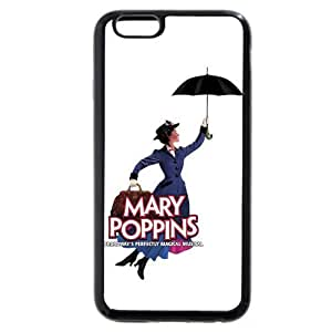 Customized Black Soft Rubber(TPU) Disney Cartoon Mary Poppins iPhone 4.7 Case, Only fit iPhone 6 4.7""