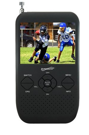 "Supersonic SC-335 3.5"" Portable TFT LCD TV with FM Radio and"