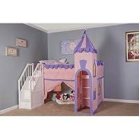 NE Kids School House White Junior Princess Loft with Stairs