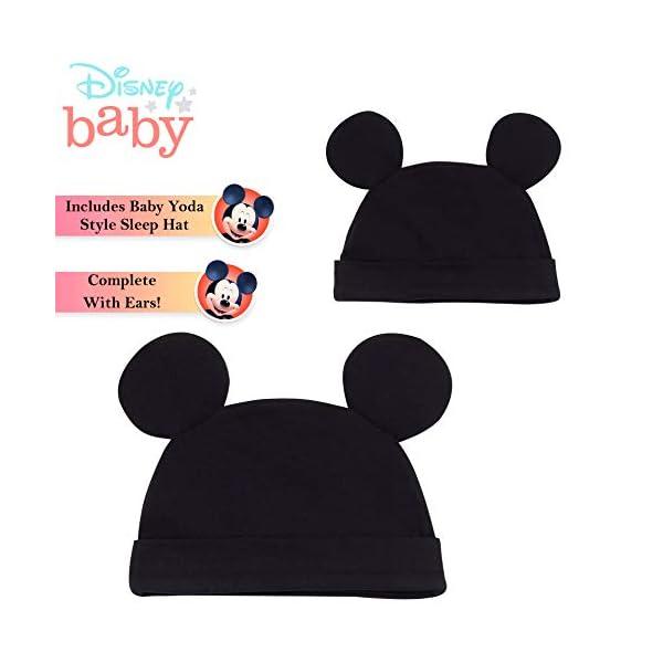 Disney Tutina Neonato di Topolino, Tutine Mickey Mouse da 0 a 24 Mesi, Pigiama Intero Bambina con Cappello, Pagliaccetto… 4