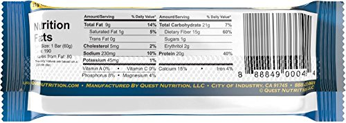 Quest Nutrition Protein Bars,Vanilla Almond Crunch , 2.12oz 12-Bars (2-Pack)