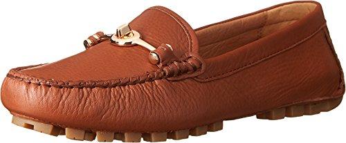 Coach Flats Shoes - Coach Women's Arlene Moccasin Saddle Pebble Grain Leather Sandals 8.5 B US Women