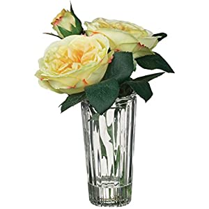 """Sullivans Vase with Artificial 7.5"""" Rose (Yellow) 13"""