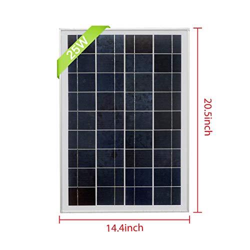ECO-WORTHY 12V Volt Solar Panel 25W Watt Module Off Grid Charging RV Boat