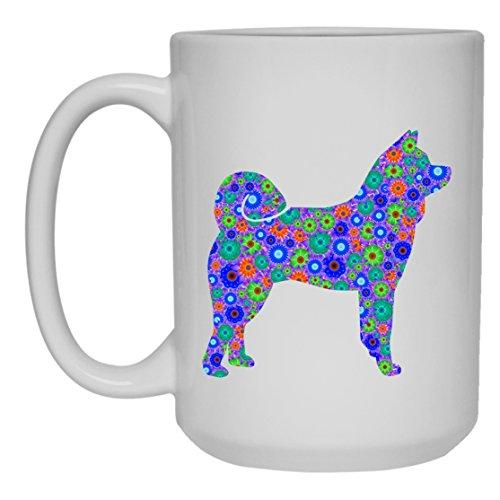 Akita White Coffee Mug - Akita Tea Cup, Mugs Ceramic 15oz Cool Design Gift For Friend, Family (White Mug 15oz) (Akita Coffee Mug)