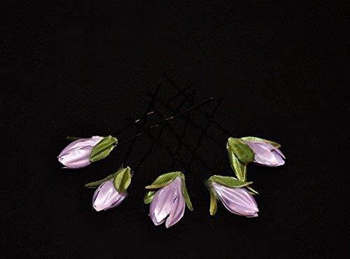 5 Haarschmuck Haarnadeln Oktoberfest Dirndl Blumen lavendel