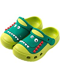 Kids Clogs Shoes,Boys Girls Lightweight Non-Slip Beach Pool Sandals Slip-on Indoor Outdoor Sippers