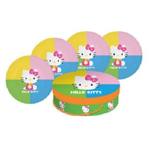 (Paperproducts Design Hello Pop Kitty Porcelain Plates, 8.25-Inch, Set of 4)