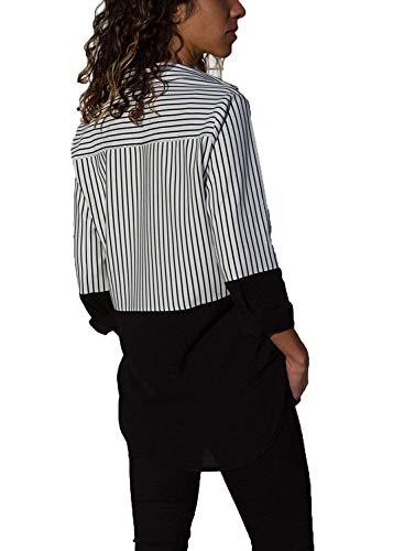 Classique Chic Femme Blouse Grande Noir Longue Manche Tunique Elegant V Top Chemise Taille 5XL Col S Yidarton 7pTnxfA7