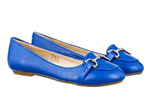 Modische Ballerinas Flache Schuhe aus Leder Damen RIPA shoes - 31-8259