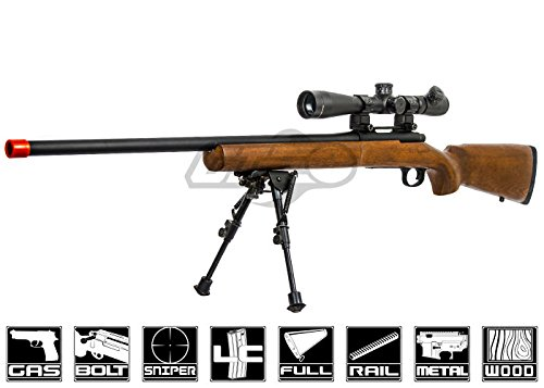 Red Fire Full Metal M700 Gas Powered Bolt Action Sniper Rifle Airsoft Gun (Real Wood Stock)