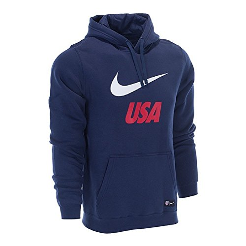 Nike 2018 USA Men's Pullover Hoodie (Midnight Navy, Large)