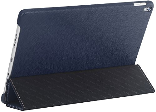 StilGut iPad 10.5 Case, Leather Flip Cover with Stand Function and Auto Sleep Wake Feature for Apple iPad Pro 10.5 Inch, Navy Blue by StilGut