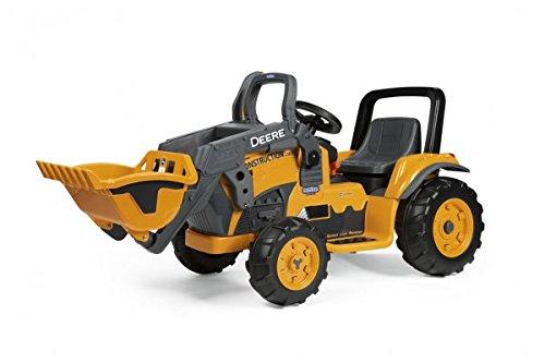 Kindertraktor mit Motor - Peg Perego 12V Deere Construction Loader Elektro Traktor