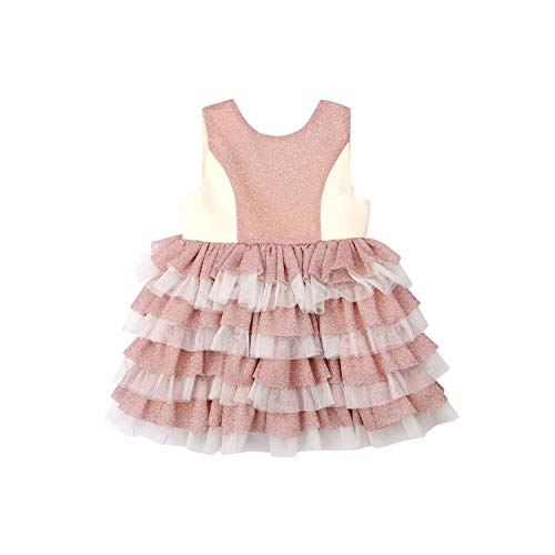 - juan 9 Skirts Formal Kids Baby Girl Princess Dress Sleeveless Back Bow Backless Birthday Wedding Party Tutu Dress,Multi,5T