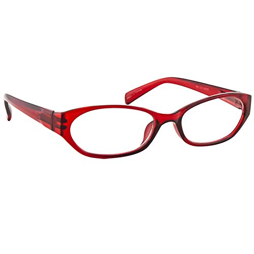 Reading Glasses Red _ Always have a Stylish Look & Crystal Clear Vision When You Need It! _ Comfort Spring Arms & Dura-Tight Screws _ 100% Guarantee - Glasses What Reading Is Bifocal