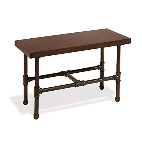 Econoco Pipeline Small Display Table with Top, Dark Brown Wood Grained Melamine by Econoco