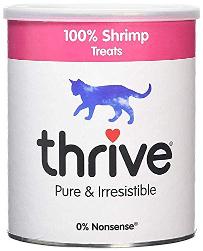 thrive Cat Treats, Maxi Tube, One Ingredient All Natural Cat Treats, Freeze Dried (Shrimp, 6 oz) by thrive